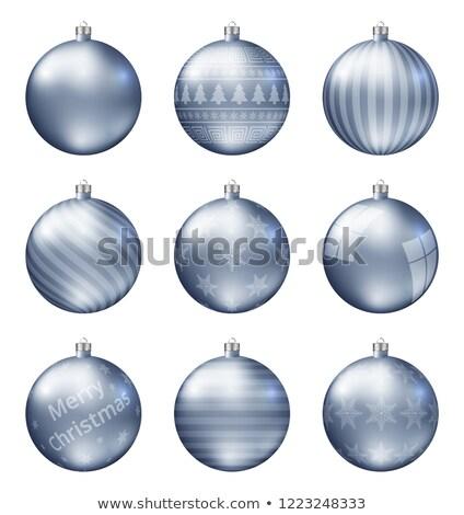Pastel azul Navidad aislado blanco Foto stock © ukasz_hampel