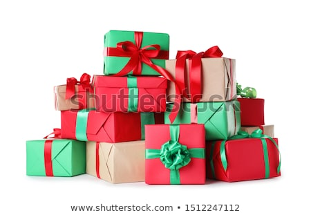 Presents Pile with Decorative Bows and Papers Stock photo © robuart