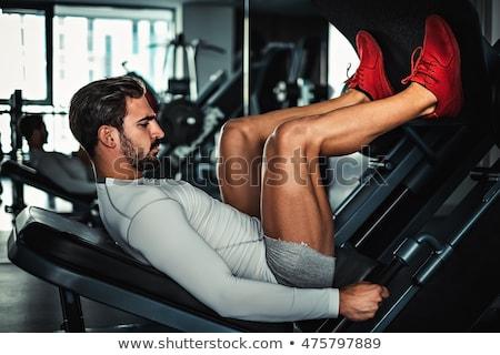 Antreman bacak basın spor erkekler makine Stok fotoğraf © Jasminko