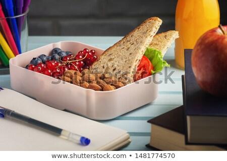Aliments sains fruits frais yogourt smoothie avoine Photo stock © dash