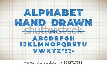 Cute Lettering Hand Drawn On Page From An Old Copybook Foto stock © Tashatuvango