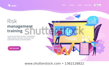 Risk Management - Web Template in Trendy Colors. Stock photo © tashatuvango