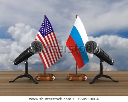 Relatie amerika Rusland 3d illustration oorlog vlag Stockfoto © ISerg