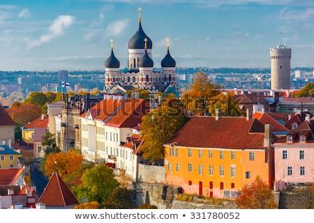 Falak Tallinn Észtország középkori tornyok fal Stock fotó © borisb17