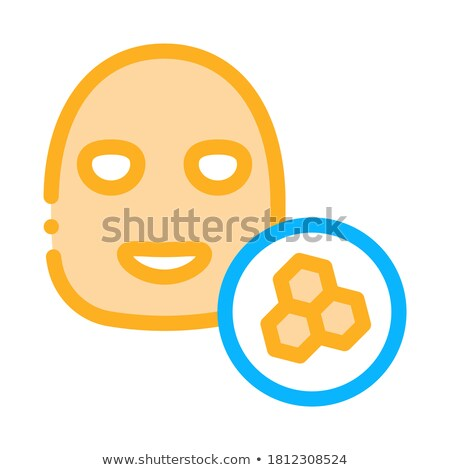 Facial Mask Honeycomb Icon Outline Illustration Stock photo © pikepicture