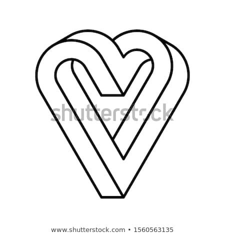 невозможное сердце икона вектора форма Сток-фото © almagami