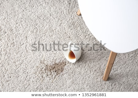 Alfombra café beber mancha casa piso Foto stock © AndreyPopov
