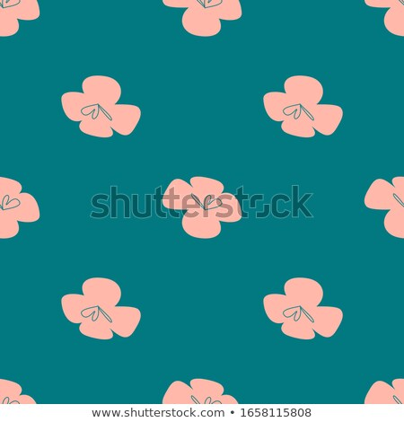 Vector flowers patten. Seamless design with simple botanical elements Stock photo © natali_brill