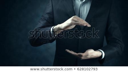 Geste · Mann · Hand · öffnen · isoliert · weiß - stock foto © caimacanul