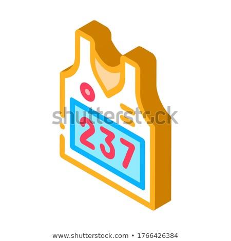 Kamizelka osobowych sportowiec numer izometryczny ikona Zdjęcia stock © pikepicture