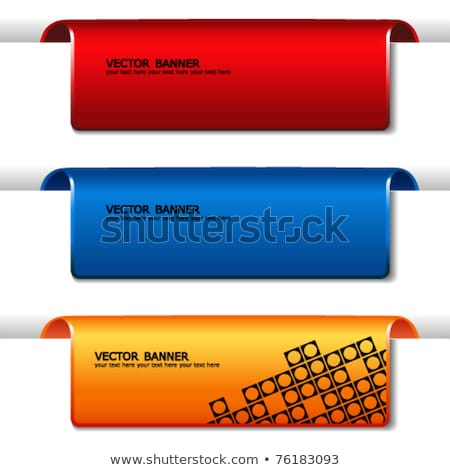 modern red navigation items stock photo © orson