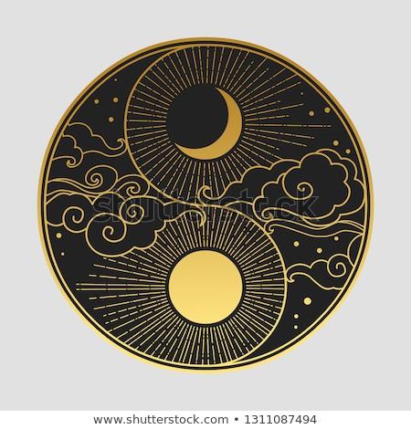 Yin yang illusztráció fehér absztrakt felirat élet Stock fotó © get4net