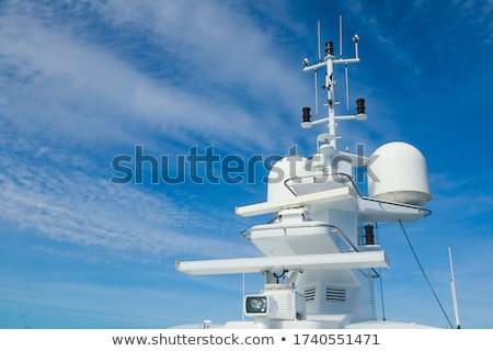 Yacht radar technologie communications équipement luxueux Photo stock © premiere