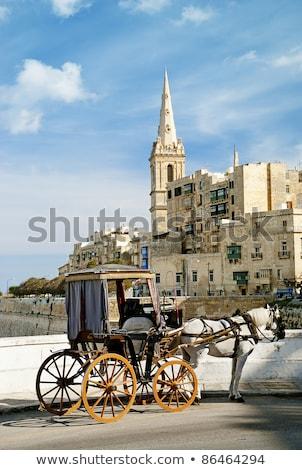 Winkelwagen Malta oude stad straat stedelijke Stockfoto © travelphotography