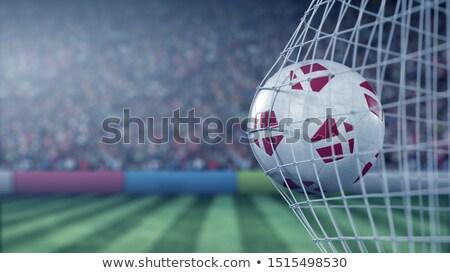 サッカー · 草 · フラグ · 空 · サッカー - ストックフォト © creisinger
