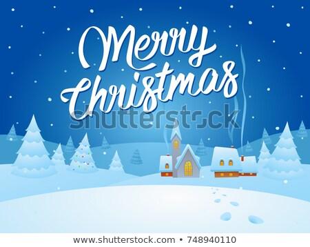 Tebrik ruh Noel resim melekler ev Stok fotoğraf © marimorena
