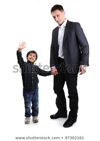 портрет ребенка улыбаясь оружия Сток-фото © dacasdo