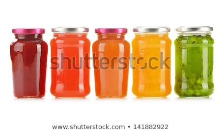 honing · jar · honingraat · vloeibare · Geel - stockfoto © elly_l