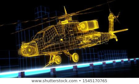 модель вертолета фон скорости игрушку Сток-фото © yoshiyayo