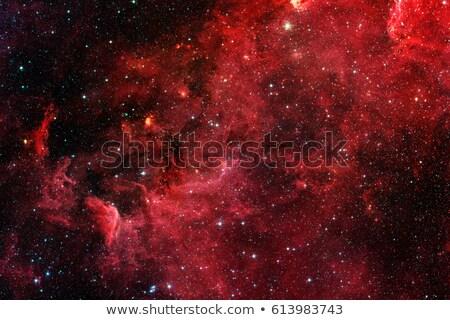 Piros nap absztrakt űr csillagok háttér Stock fotó © nmarques74