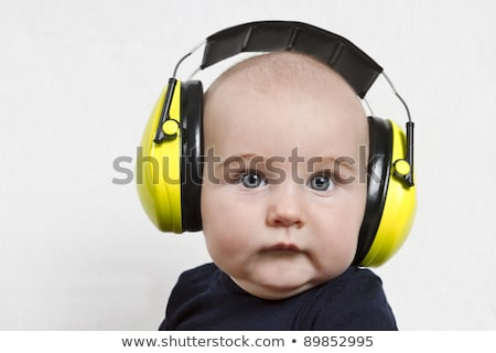 baby with ear protection stock photo © gewoldi