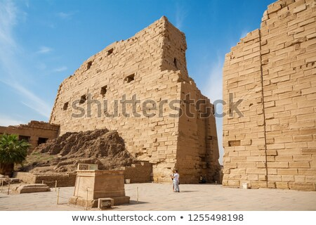 The first courtyard of the temple at Karnak (Egypt) Stock photo © frank11
