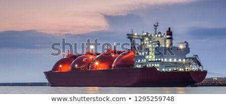 нефтяной · танкер · морем · бизнеса · небе · воды · работу - Сток-фото © antonihalim