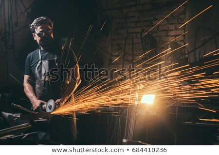 man using angle grinder stock photo © photography33