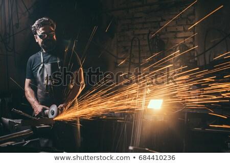男 角度 グラインダー 建物 建設 電源 ストックフォト © photography33
