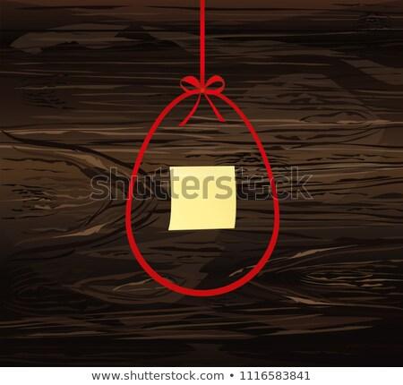 Carta da lettere rosso arco legno legno abstract Foto d'archivio © happydancing