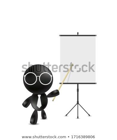 business · dame · wijzend · advertentie · billboard · zakenvrouw - stockfoto © stockyimages