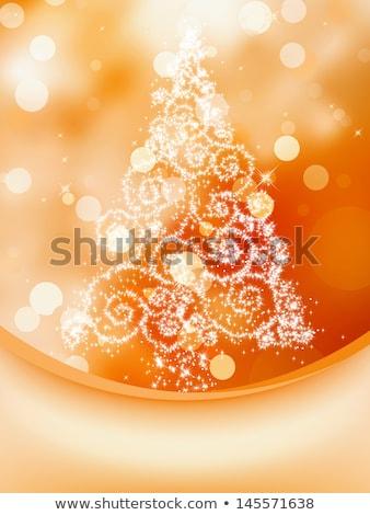 ?hristmas card with orange ball. EPS 8 Stock photo © beholdereye