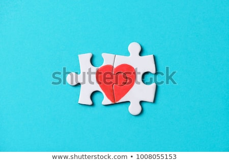 パズル · 中心 · 孤立した · 白 · 結婚式 · 愛 - ストックフォト © devon