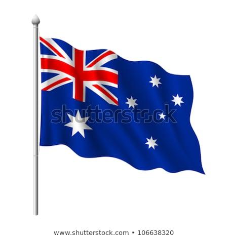 Political Waving Flag Of Australia On White Stok fotoğraf © Sarunyu_foto
