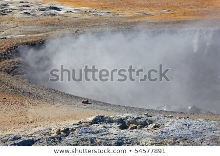 Hverir geothermal fields around Namafjall mountain, Myvatn lake  Stock photo © broker