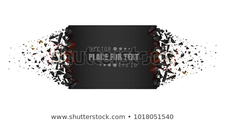 Smashed blank banner. Stock photo © Sylverarts