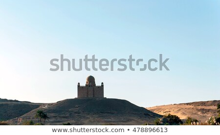 landscape near the mausoleum of Aga Khan in Egypt Stock photo © prill