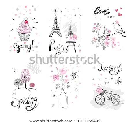 vélo · rétro · illustration · vecteur · design · fond - photo stock © beaubelle