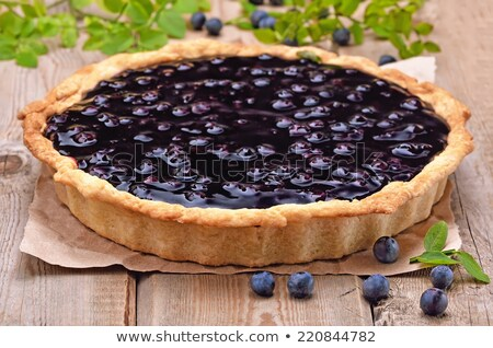 Pie with fresh bilberry Stock photo © Masha