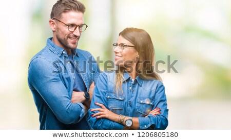 oculista · óculos · mulher · jovem · olhando · óculos · de · sol - foto stock © photography33