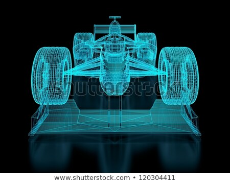 Forma · 1 · autó · 3d · render · versenyzés · sport · piros - stock fotó © nmcandre