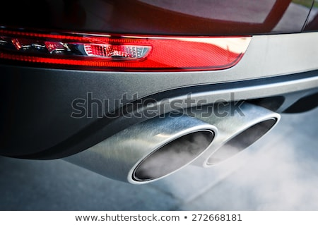 Double exhaust pipe of the tuning car Stock photo © acidgrey