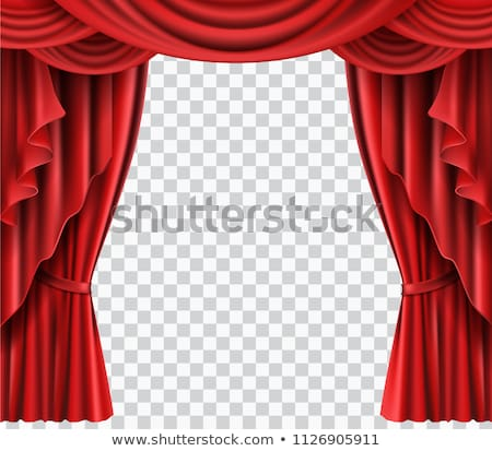 Stock photo: Blue Theater Velvet Curtain