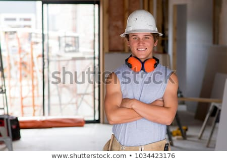 Construction worker with his trainee. Stock photo © photography33
