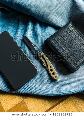 ninja · faca · descobrir · posando · estilo · fundo - foto stock © borysshevchuk