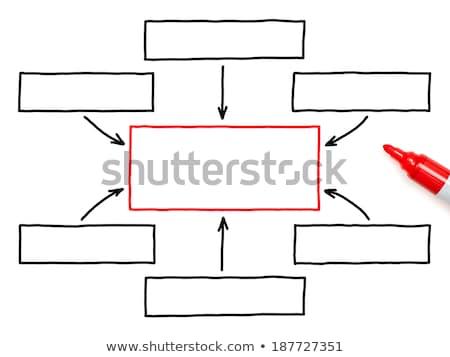 üres folyamatábra piros jelző fehér üzlet Stock fotó © ivelin