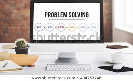 business concept: words problem solving on digital screen Stock photo © fotoscool