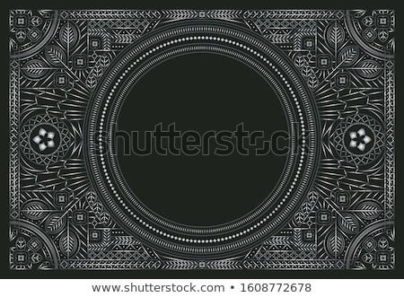 Keret ékszerek mértani dizájnok arany illusztráció Stock fotó © yurkina
