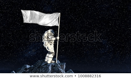 first man on the moon Stock photo © samsem