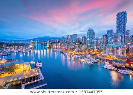 Miasta dok patrząc Melbourne wcześnie rano działalności Zdjęcia stock © iTobi
